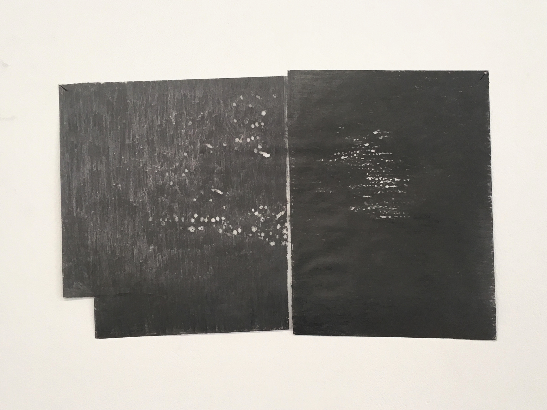 Signos de resistencia, 2018 (Frottage, 21×33 cm)
