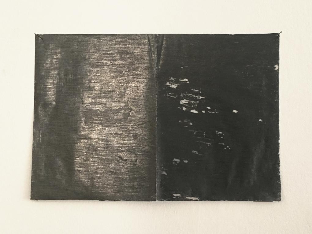 Signos de resistencia, 2018 (Frottage, 21×31 cm)