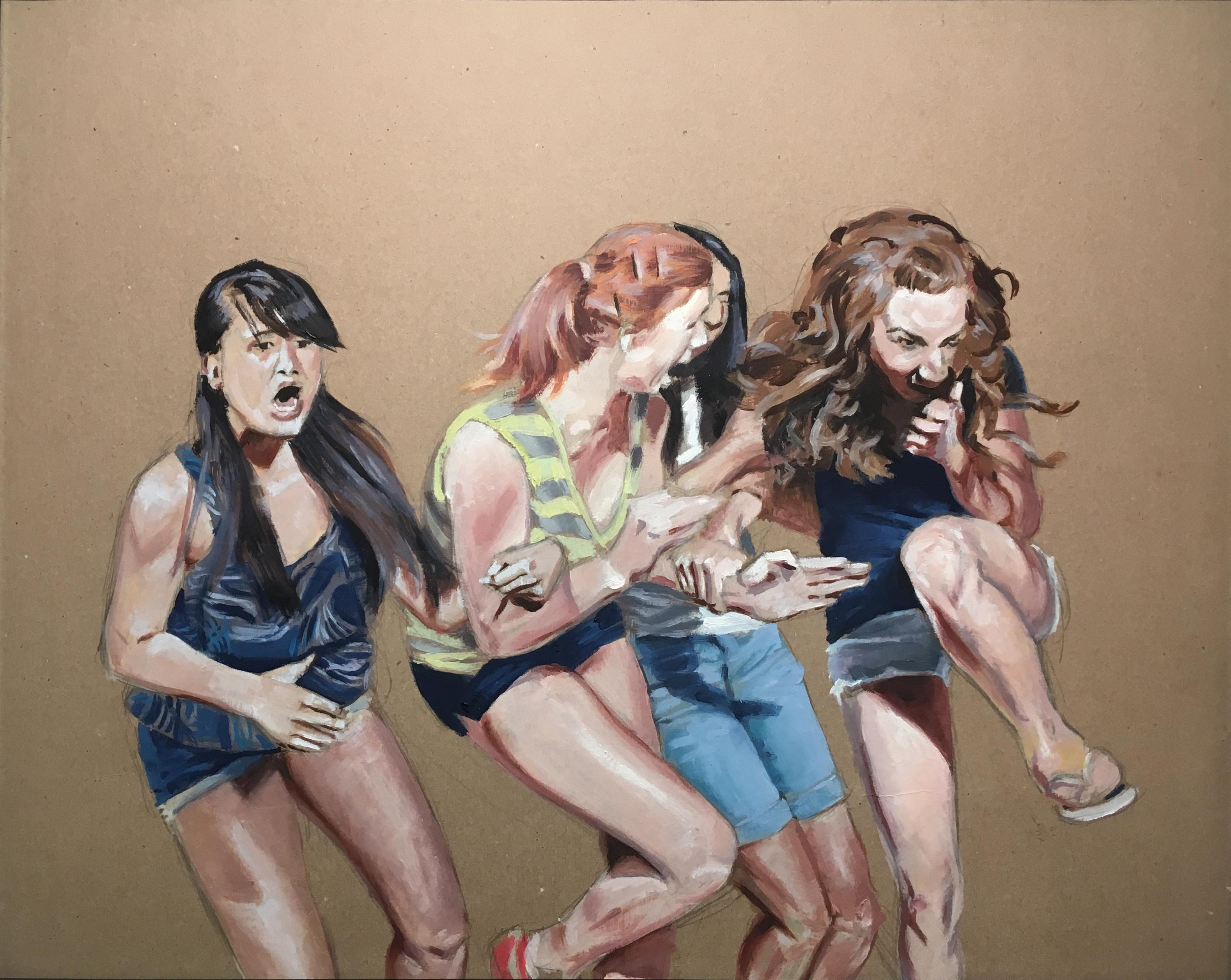 Pintura de historia V, 2019 (óleo sobre papel, 40×50 cm). 520 €