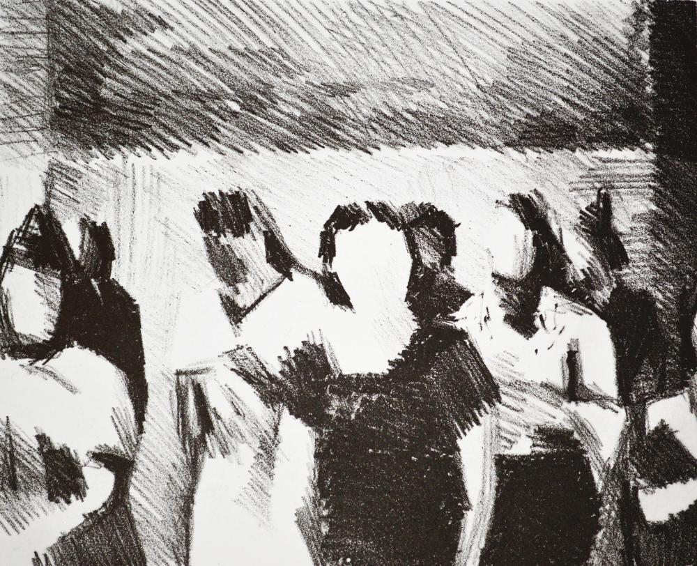 Sin título [ed. 8], serie España; 2018 (litografía en piedra sobre papel. 30X40 cm). 500€