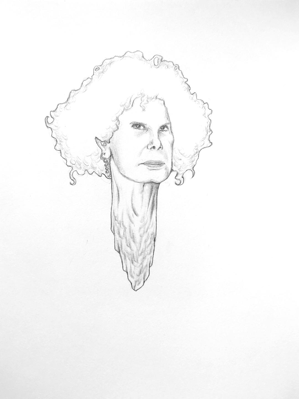 DORIAN WOOD; Sin título (Grafito sobre papel, 22,8 x 30,5 cm).