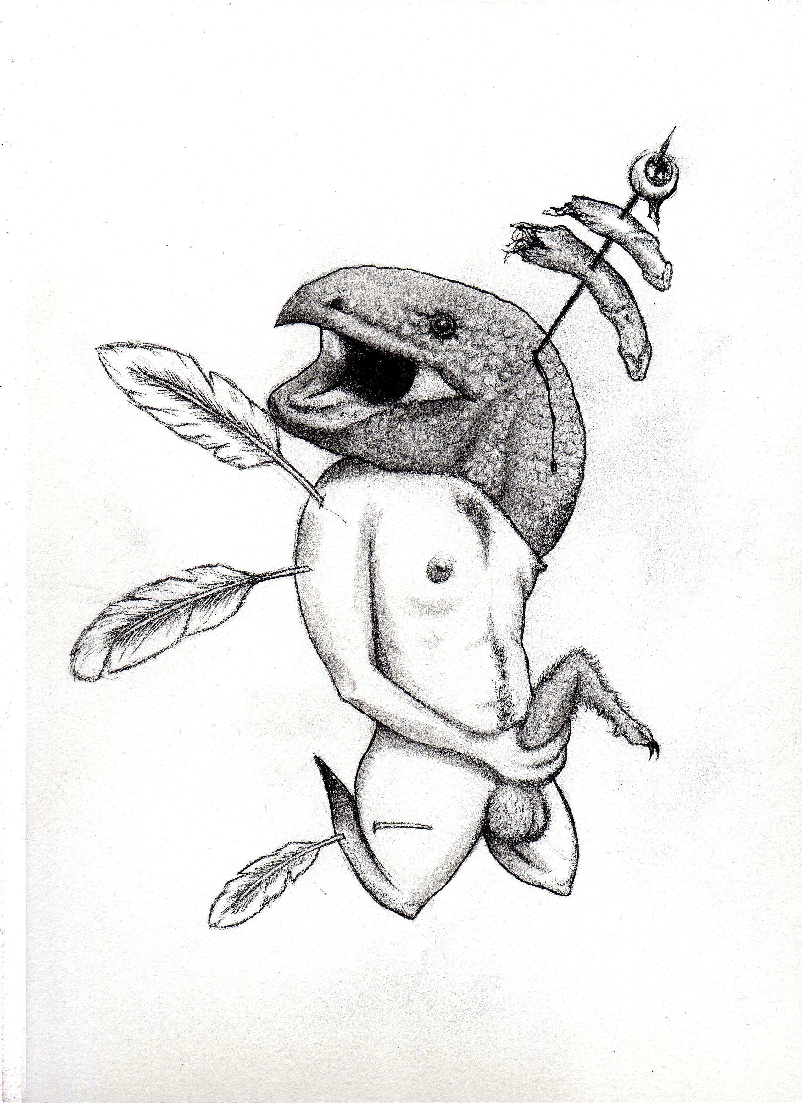 DORIAN WOOD; Sin título [Seguazine 11] (Grafito sobre papel, 22,8 x 30,5 cm).