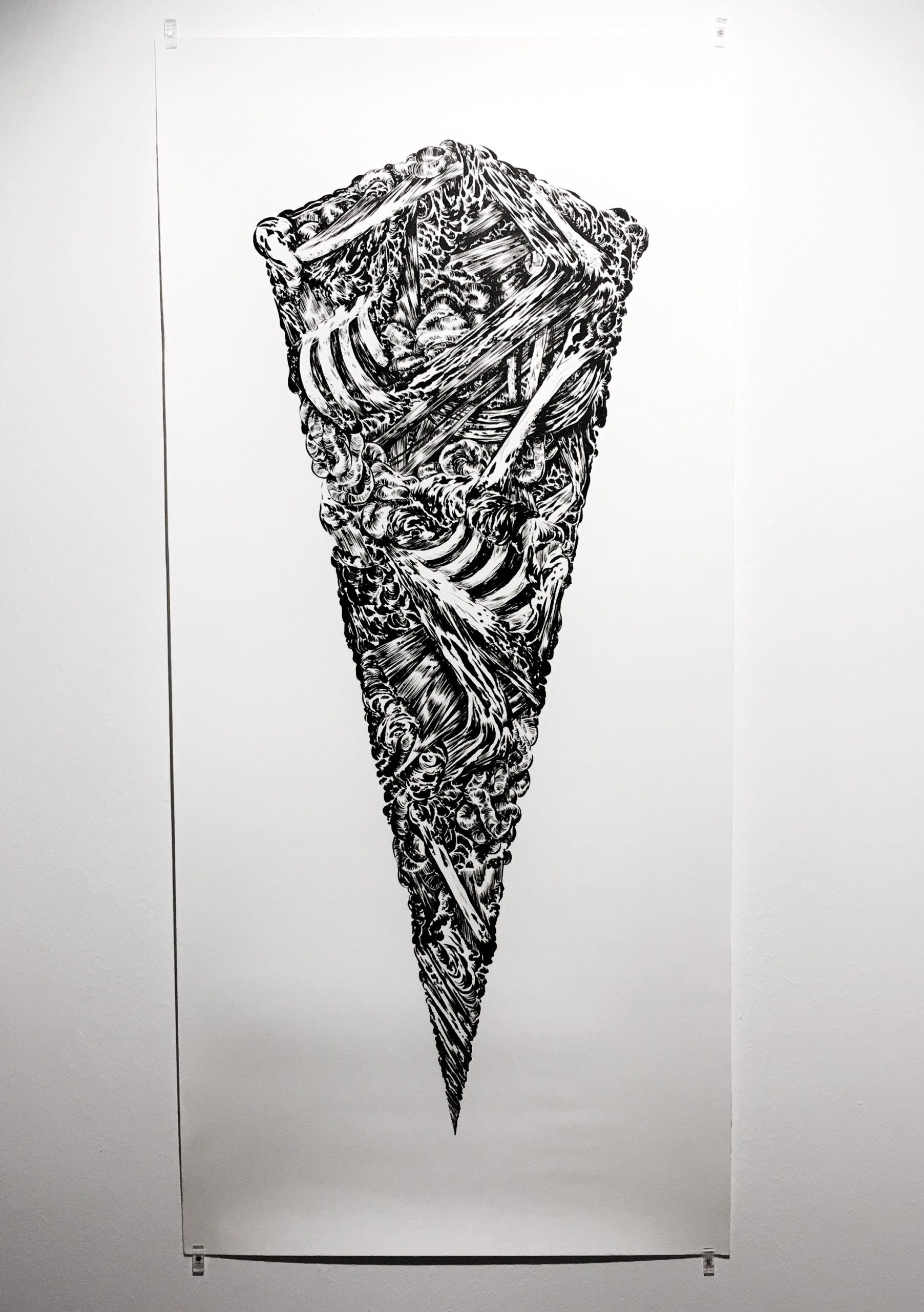Sin Título, 2019. Tinta china sobre papel.
